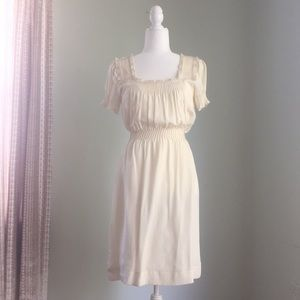 Betsey Johnson Ivory Pin-Tucked Dream Dress